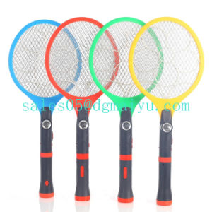 Rechargeable Electric Flashlight Mosquito Swatter with LED Light pictures & photos