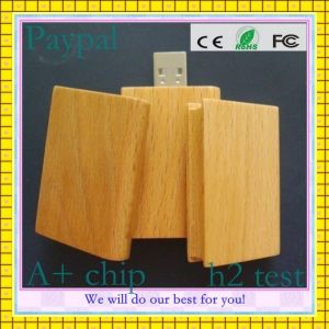 Wooden Card Shape USB Stick (GC-W009) pictures & photos