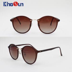 Lady′s New Fashion Sunglasses Metal Bridge Acetate Sunglasses Ks1144 Top Design pictures & photos