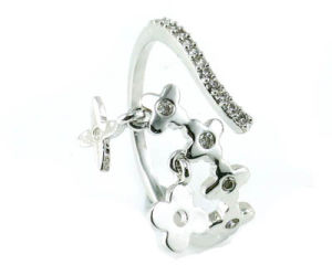 Hot Sale Woman′s Fashion Flower Design 925 Sterling Silver Jewelry Ring (R10355) pictures & photos