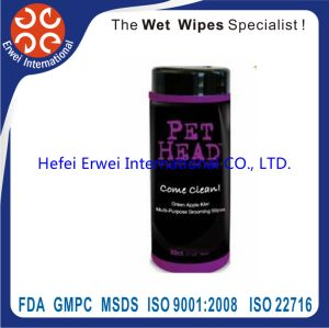 Disposable Pet Bathing Cleaning Wet Towel Santibacterial Pet Wipes pictures & photos