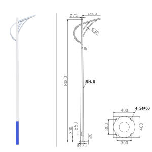 Street Lamp/Light Pole-6 Meters Lp-C-6