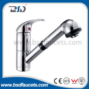 Chrome Plated Solid Brass Hot/Cold Water Basin Mixer pictures & photos