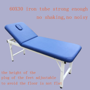 Steel Tube Stationary Massage Table Beauty Bed pictures & photos