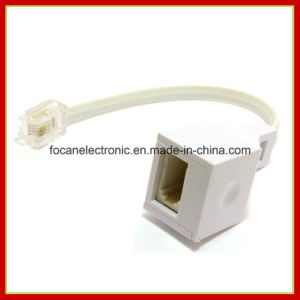 Rj11 4 Wire to Bt Telephone Female Socket Us to UK Adapter 6p4c 10cm pictures & photos
