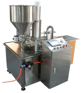 Auto Milk Tea Water Honey Rotary Cup Filling Machine