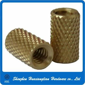 Brass Threaded Knurled Inserts Made in China pictures & photos