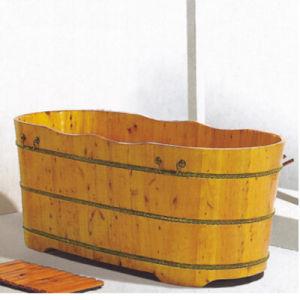 Wooden Bathroom Sanitary Ware Soaking SPA Bathtub Hot Tub (NJ-017) pictures & photos