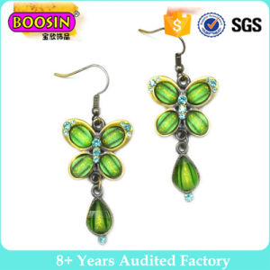 Gun Black Ethnic Style Butterfly and Swan Animal Enamel Drop Earring in Zinc Alloy Jewelry pictures & photos