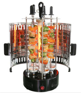 Electric Vertical Kebob BBQ Grill Spit Rotisserie pictures & photos