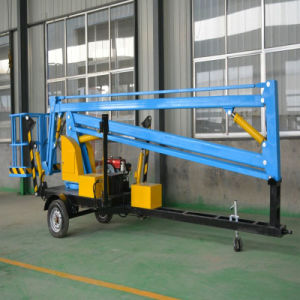 Hydraulic Lift Table Towable Trailer Boom Lift for Spider Man pictures & photos