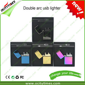 2016 Newest Rechargeable Double Arc USB Lighter for Cigarette in Stock pictures & photos