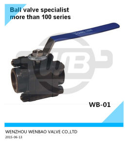 3-PC High Pressure Forged Carbon Steel Ball Valve 3000psi pictures & photos