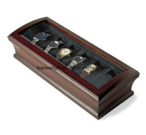 Wood Finish -6 Watches Brand Bombay - Glass Topped Case pictures & photos