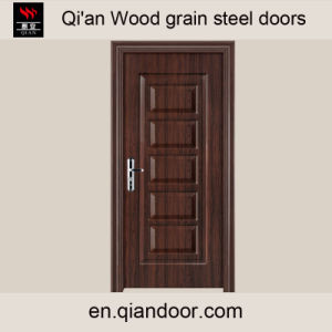 Wood Grain Galvanized Steel Door with Patterns pictures & photos