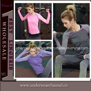 2016 Wholesale Fashion Women Dry Fit T-Shirt Sports Wear (THSW21) pictures & photos