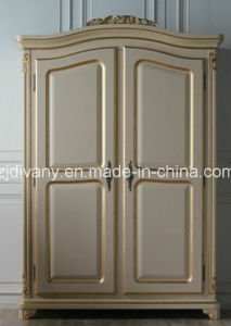 French Style Home Furniture Bedroom Wooden Wardrobe (1601) pictures & photos