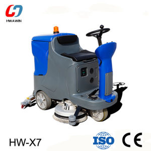 Driving Type Electric Floor Scrubber Machine (HW-X7) pictures & photos