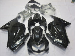 All Gloss Black Ninja 250r Kawasaki Motorcycle Fairings