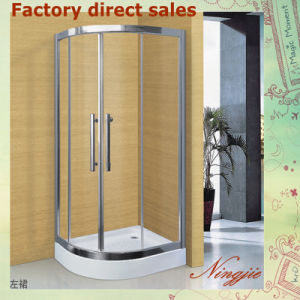 Economic Hotel Clear Temper Glass Shower Enclosure (A-035) pictures & photos