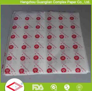 Food Wrapping Use Printed Greaseproof Paper Sheets pictures & photos
