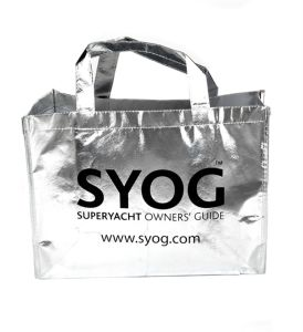 Silver Laminated Non-Woven Reusable Tote Shopping Bags pictures & photos