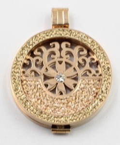 Hot Selling Fashion 316L Stainless Steel Locket Pendant Jewelry with Pave Stones pictures & photos