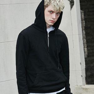 Mens Hip Hop Clothing Plain Blank Black Fleece Hoodie pictures & photos