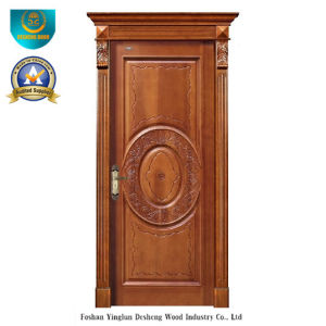 European Style Solid Wood Door Forinterior or Exterior with Carving (ds-8038) pictures & photos