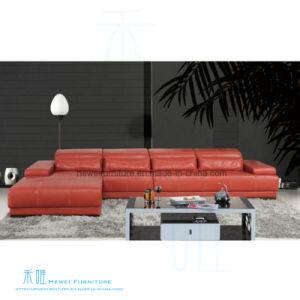 Modern Living Room Corner Leather Sofa for Home (HW-8152S)