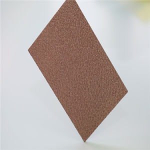 Bronze Polycarbonate Plastic Diamond Embossed Wall Panel pictures & photos