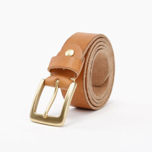 2016 Neutral Leather Belts Mens Genuine Leather Men′s Belt for Men′s with Buckle Customize Logo