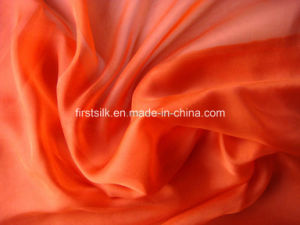 Chiffon Silk 6m/M Solid Dyed Fabric pictures & photos