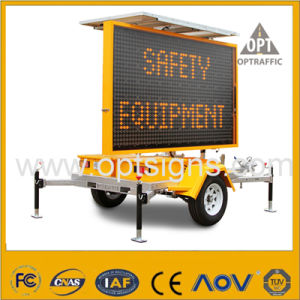 Amber Solar Powered LED Light Road Safety Traffic Sign Vms pictures & photos
