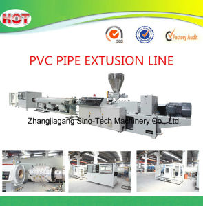 PVC Pipe Conical Twin Screw Extruder pictures & photos