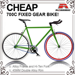 Cheap Hi-Ten 700c Fixed Gear Bicycle with Front and Rear Caliper (ADS-7052S) pictures & photos