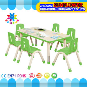 Lifting Chair\Plastic Student Table for 6 Children pictures & photos