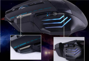 USB Wired Optical 3200/5500dpi Gaming Computer Mouse with Breathing Light pictures & photos