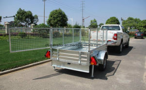 Hot Dipped Galvanised 8FT X 4FT Box Trailer with Ramp pictures & photos