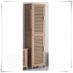 Bamboo Towel Storage Cabinet for Bathroom pictures & photos