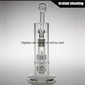 China Wholesale Glass Smoking Water Pipe Mobius Glass Bubbler Matrix Borosilicate Pyrex Hookah pictures & photos