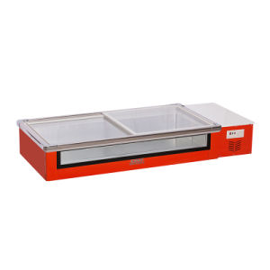 Desktop Seafood Front Clear Freezer with LED Light pictures & photos