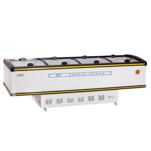 800L Showcase Display Sliding Door Island Freezer for Supermarket
