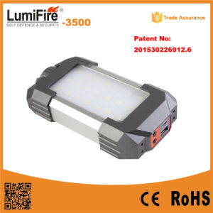 2015 Newest Product 18650 Li Ion Battery LED Camping Lamp with Mobile Phone Charger Warning LED Camping Lantern pictures & photos