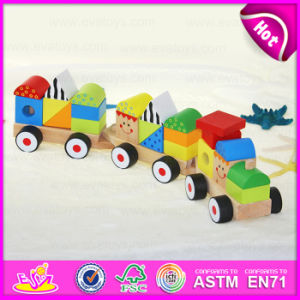 2015 New Intelligence Pull Line Blocks Toy, Kids Wooden Toy Wooden Block Pull Toy, Line Pull Building Block Toys (Train) W05c009 pictures & photos