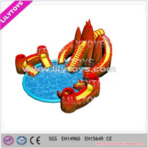 2015 New Design Inflatable Volcano Ground Water Parks