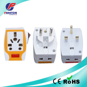 Multiuse Power AC DC Travel Adapter Socket Plug with Light pictures & photos