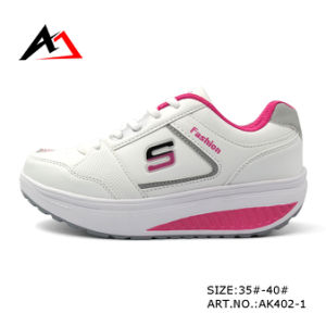 Health Shoes Fashion Leather Casual Shoe for Women (AK402) pictures & photos