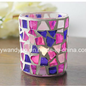 Unique Mosaic Glass Candle Holder pictures & photos