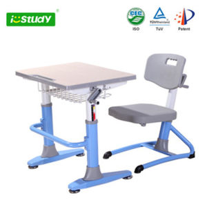 Classical Design Height Adjustable Kid Desk Drafting Table Hya-101 pictures & photos